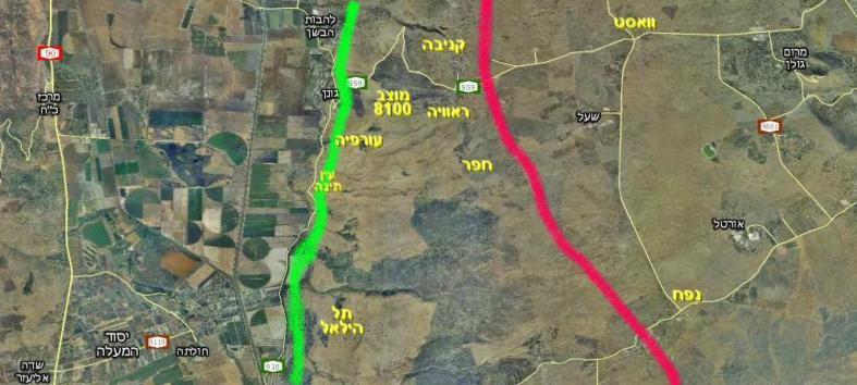 מפה כללית של איזור הגזרה המרכזית/צפונית של כיבוש הרמה הסורית [מפה מתוך וואלה]