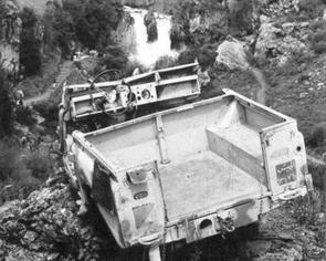 ג'יפ הלנדרובר שעלה על מוקש בבניאס ב-1967. צילום: אלוני זמורה