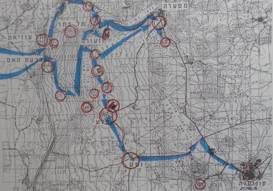מפת הקרב המלאה של גדוד 377
