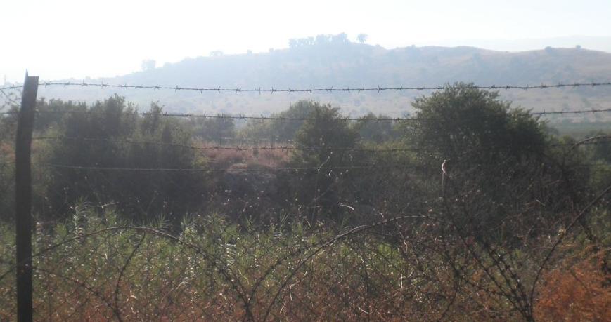 מהכביש החיצוני (מזרחי) של שאר ישוב: עזזיאת נראה מאיים גם בערפילי הבוקר