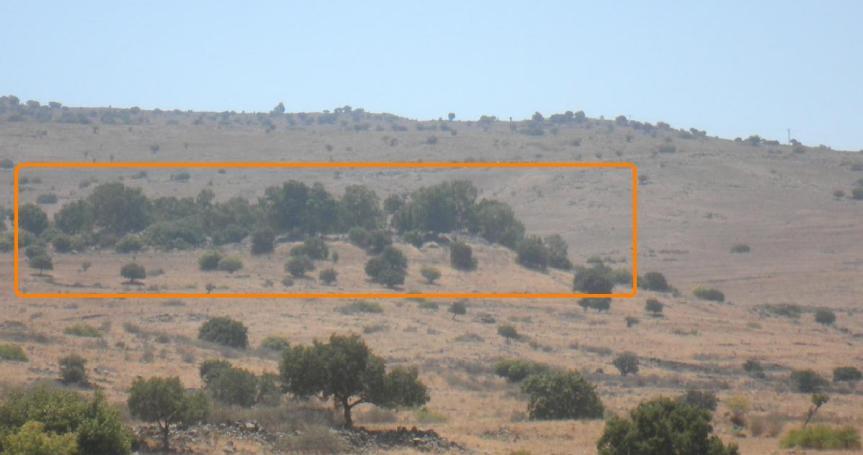 מבט מכיוון צפון על תל פאח'ר. הרכס שמעליו - זעורה-עין פית