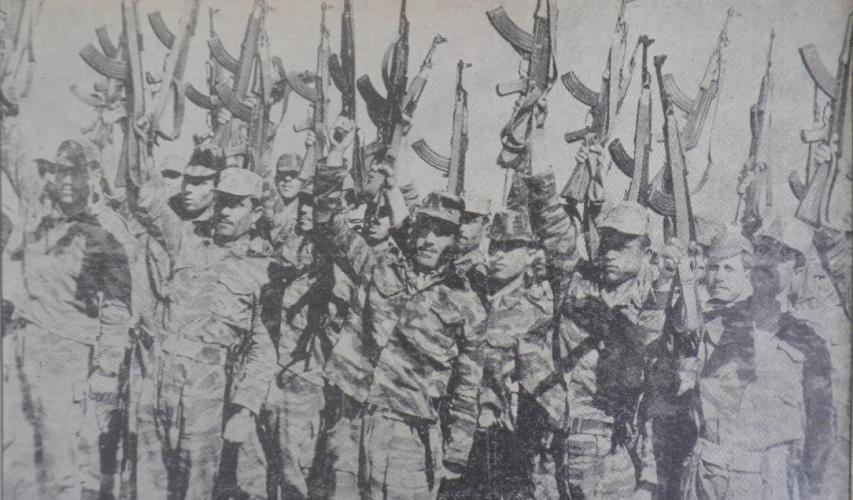 חיילים סורים מפגינים ביטחון ומוראל גבוה בתקופה שלפני מלחמת ששת הימים