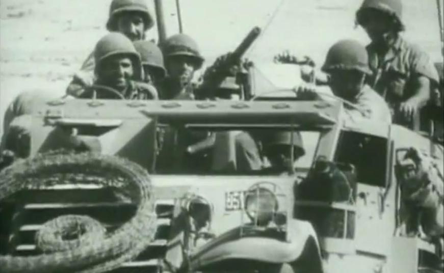 """מצב רוח טוב בזחל""""ם גולני ברמה הסורית, קיץ 1967"""