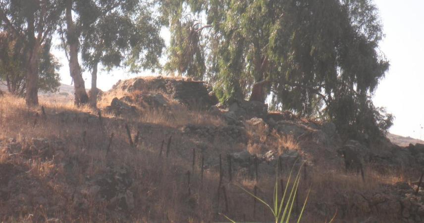 המוצב הדרומי של תל פאחר בצילום מהחלק הצפוני