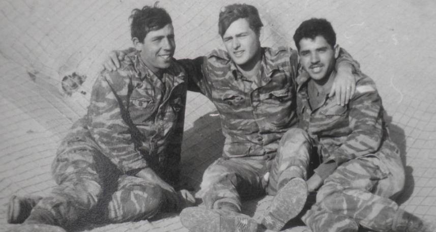 הפגין מנהיגות שקטה. דב רוזנבלום (במרכז) עם שמואל בן חמו (בן עמי – משמאל) ושלמה ועקנין