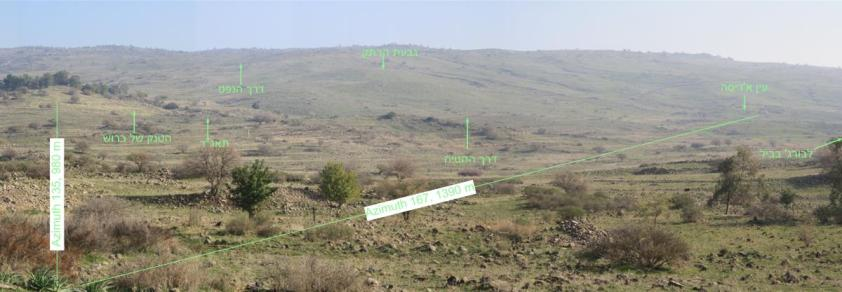 מבט מחירבת סודה מזרחה ודרומה - 980 מטר מתל פאחר (לחצו להגדלה)