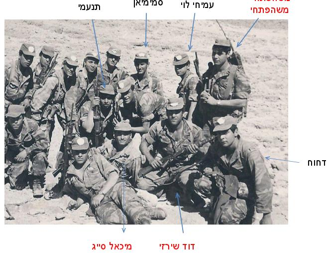 1967, מיכאל סייג וחבריו לפלוגה א' במסע גיבוש שנערך מקרית גת לאילת