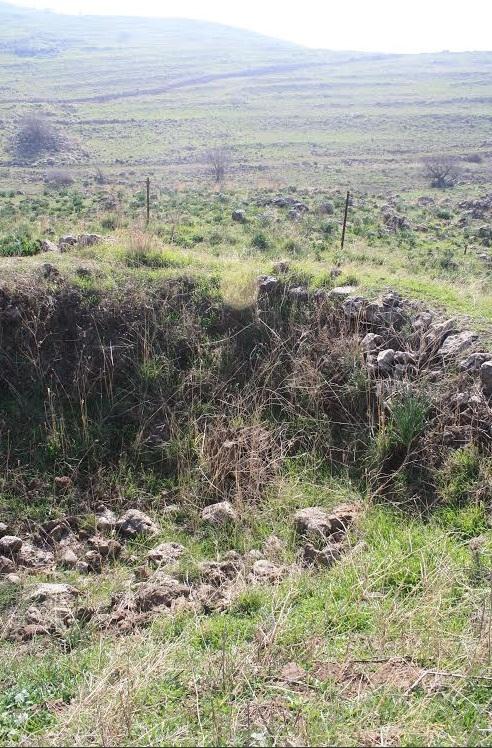 עמדת טנק בחלק הדרומי של מוצב תל פאחר הפונה לכיוון דרום-מזרח