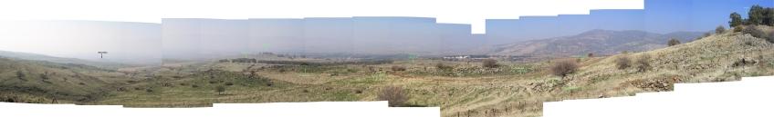 צילום פנורמה מתל פאחר הדרומי (לחצו להגדלה)