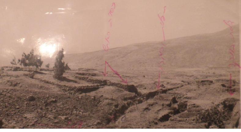 יוני 1967, החלק המרכזי של מוצב תל פאחר. צילום: זמיר כהן (לחצו להגדלה)
