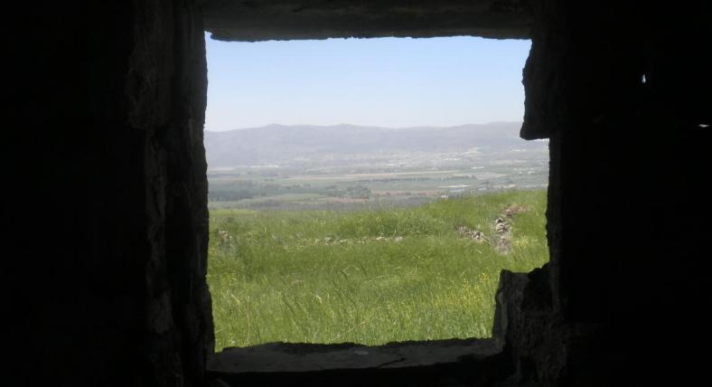 חלון מנעמוש לשטח ישראל