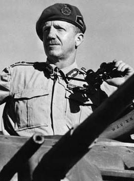 כששמיל ראה את גולדה עומד עם משקפת מול המוצב זה הזכיר לו את הגנרל הבריטי המהולל מונטוגומרי (צילום: אנציקלופדיה בריטניקה)