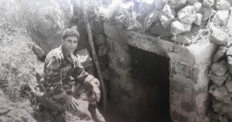 מוראד בפתח בונקר בסוף קיץ 1967