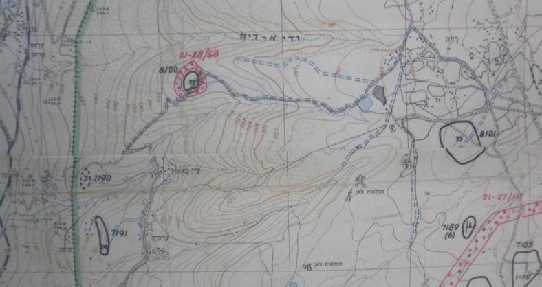 8100 במפה ממלחמת ששת הימים