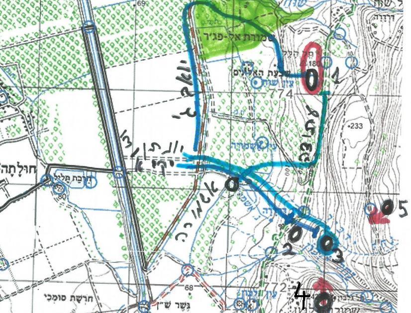 מפה של חורין