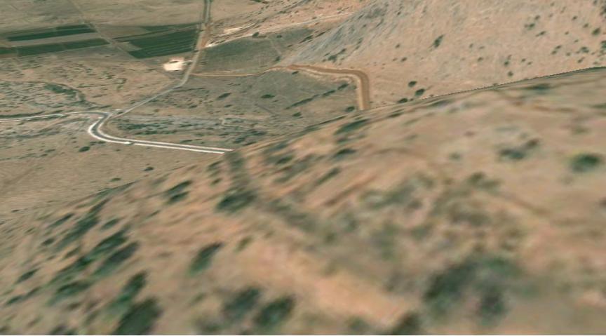 תל חמרה צילום מלוויין