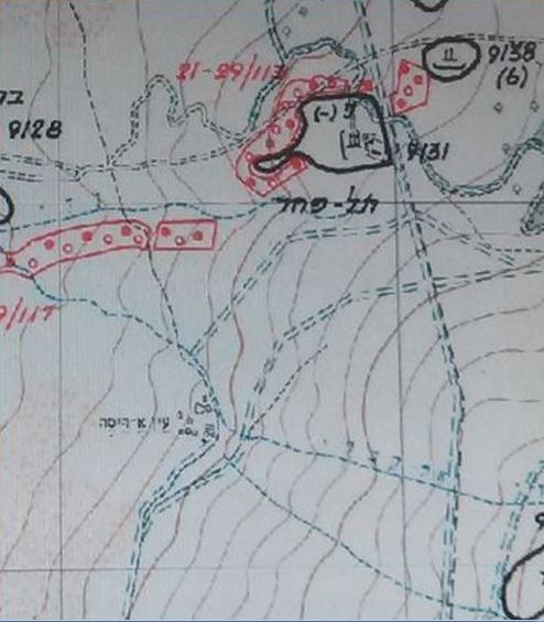 המפה שהיתה ברשות הטנקיסטים במלחמת ששת הימים