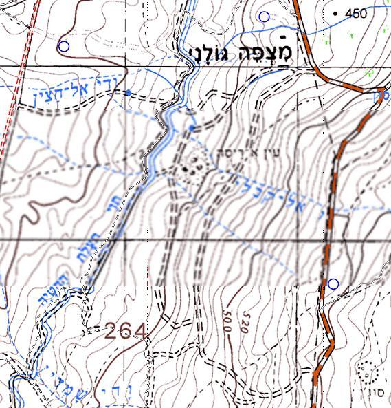 מפה טופוגרפית עדכנית