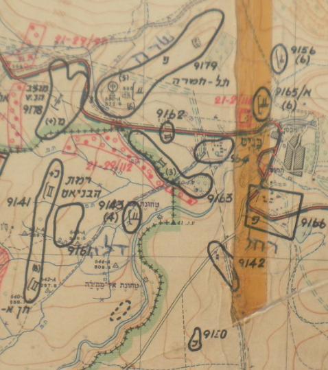 מפת 67: מוצבי תל חמרה, בניאס ורמת הבניאס