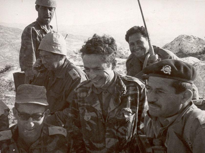 """צמרת אוגדה 36. משמאל: המפקד אלעד פלד, הקמ""""ן דני אגמון והרמ""""ט מוסא פלד"""