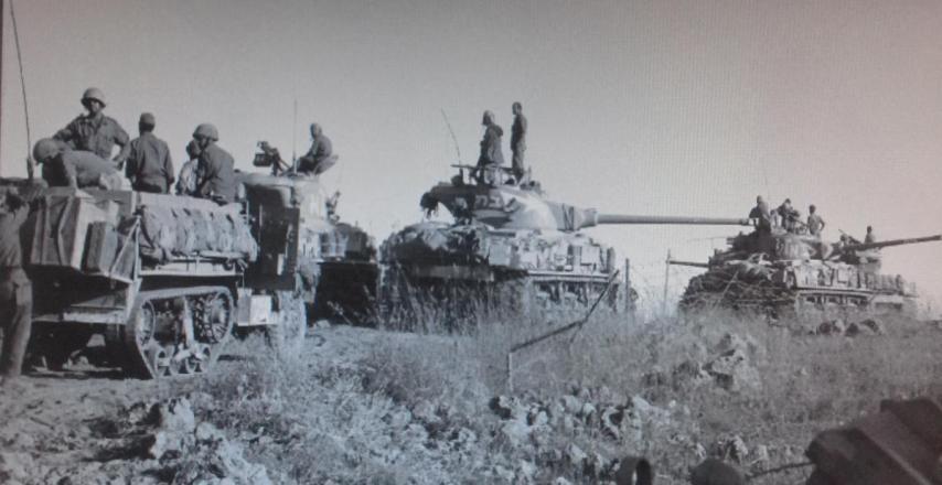 10 ביוני 1967, טנקים ישראלים באיזור מסעאדה