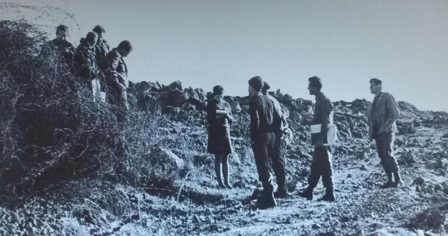"""מתחקרים בשטח. מחלקת היסטוריה כנראה עם מג""""ד 129 אריה בירו"""