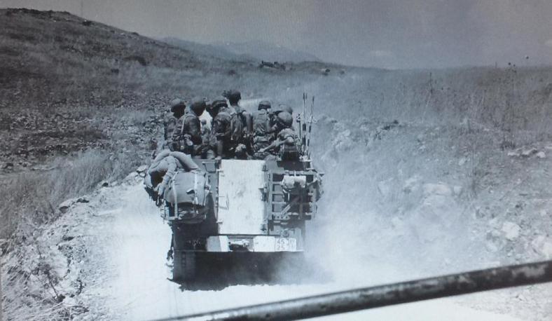 """צה""""ל בדרך מזרחה במסגרת תוכנית מקבת [ארכיון צה""""ל]"""