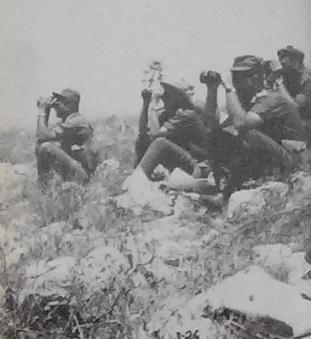 קציני אוגדה 36 בתצפיות במהלך תכנוני מקבת