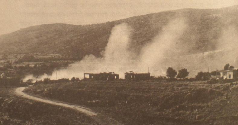 אש מרגמות על כפר בניאס