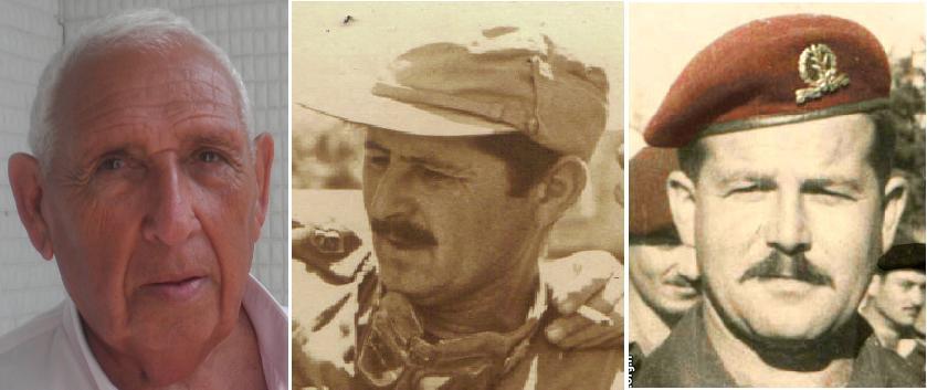 """המג""""דים בחטיבה 8. מימין: אריה בירו - 129, אמנון חינסקי - 377, אריה קרן - 121"""