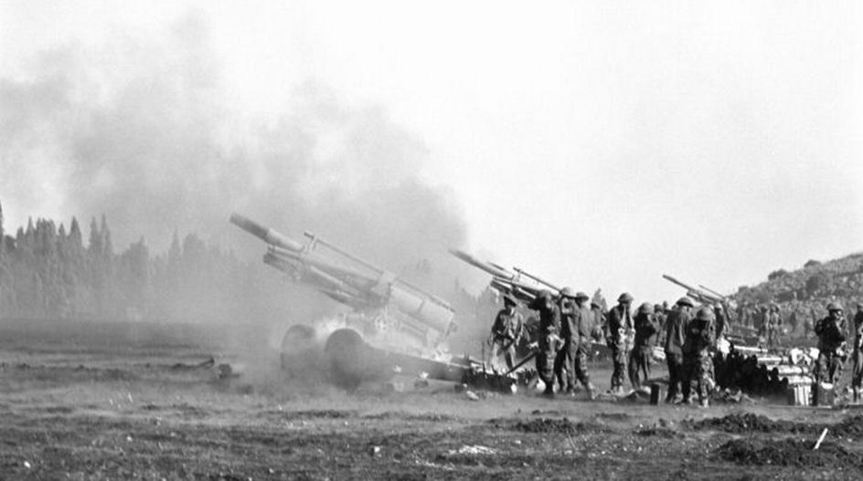גדוד ארטילריה 827 מטווח את חפר