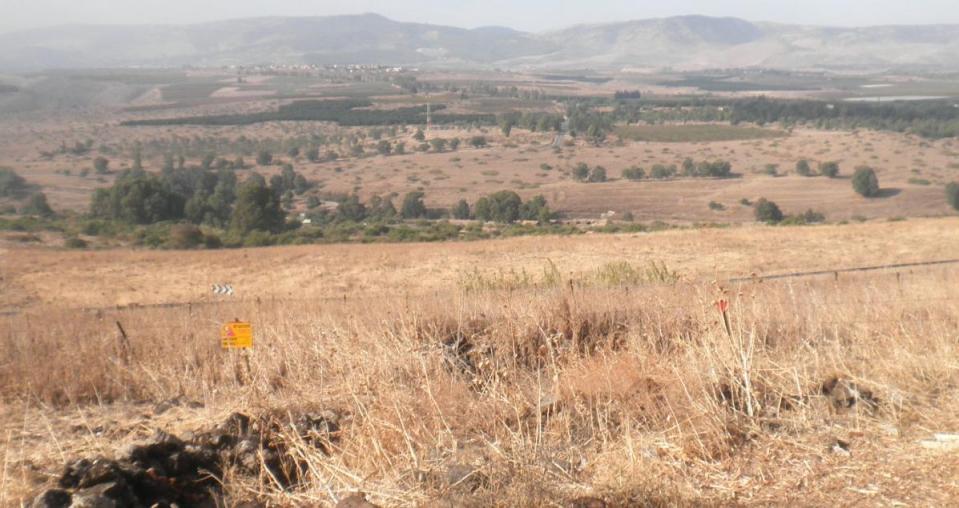 נוף לאיזור גדות ולמשמר הירדן ממרומי מוצב המורתפע