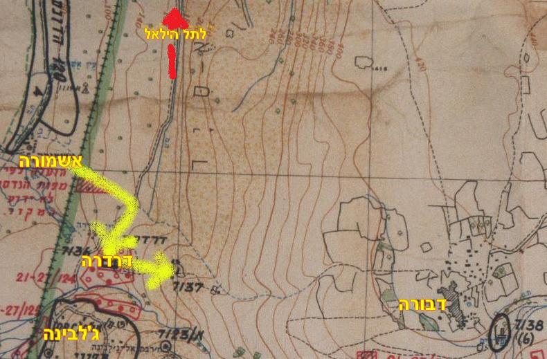 מפת דרדרה