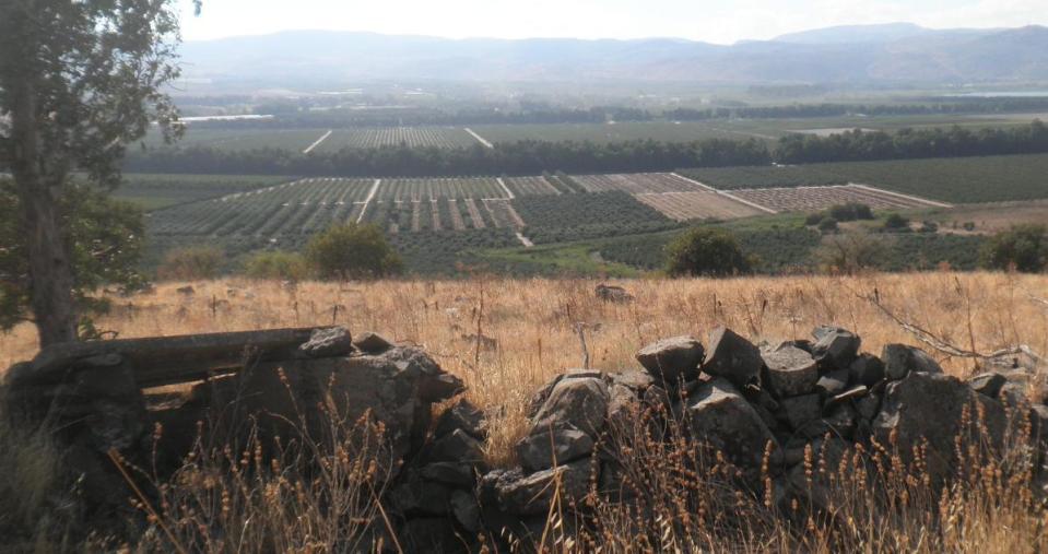 בחזית מוצב תל הילאל אל שדות חולתה ויסוד המעלה
