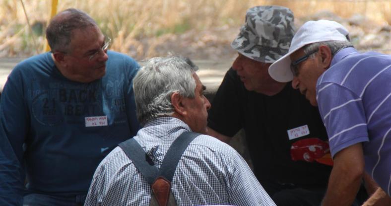 מימין: שמוליק מוראד, יוסי פרידמן, הדר דוראון ומנחם רובינשטיין