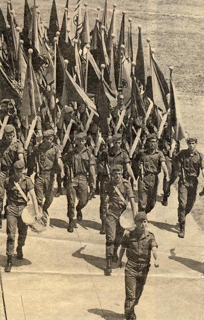 מחלקה 16 פלוגה ד' במצעד יום העצמאות 1967 בירושלים [באדיבות אריה פלדי]