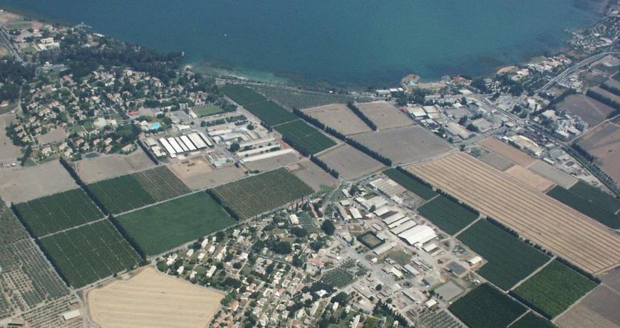 דגניה א' משמאל ודגניה ב' למטה ואיזור צמח מימין [מתוך אתר http://dic.academic.ru/dic.nsf/ruwiki/401537]