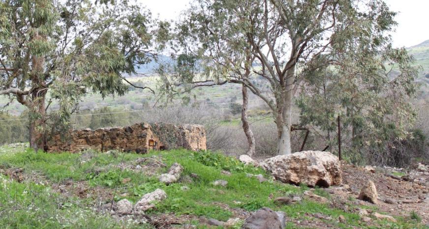 מבנה המגורים הסורי שהפך לקן ההתנגדות העיקרי במהלך כיבוש תל פאחר [צילום ממערב למזרח]