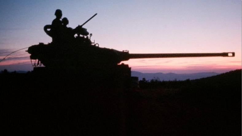 טנק M-50 ברמת הגולן, יוני 1967 [צילום: קורביס]