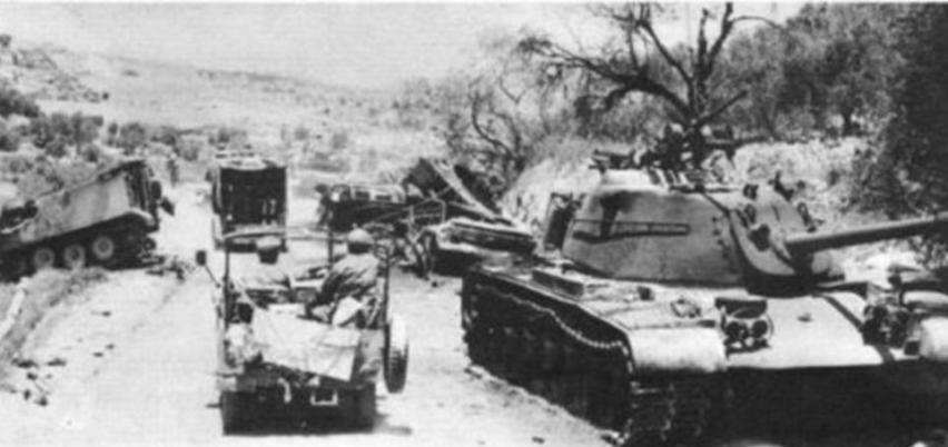 פטונים ירדנים פגועים לאחר הקרב עם כוחות חטיבה 37 ממערב לשכם [מתוך ספר חטיבה 37]