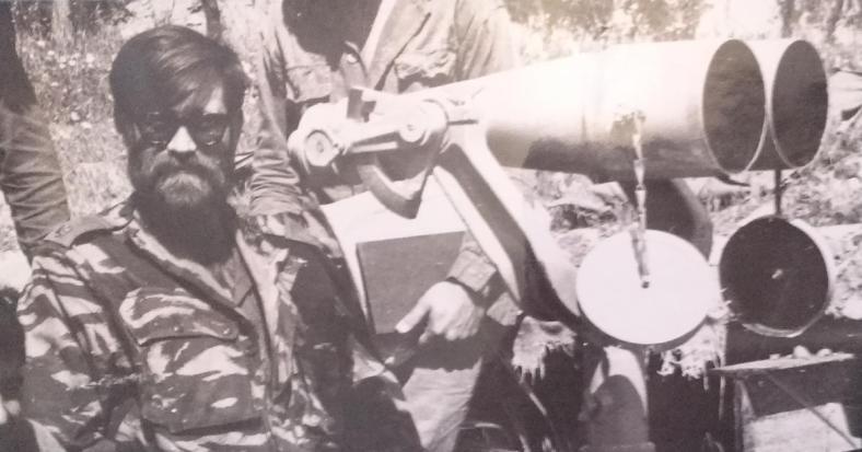 """רס""""ן חנן חרנ""""ם עם משקפת ה-120x20, הנשק החדש של פיקוד צפון מול הסורים"""