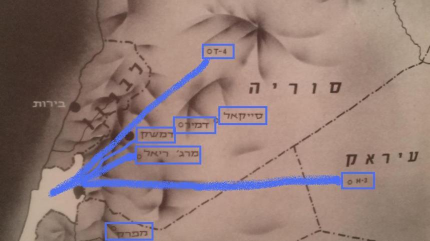 מפת תקיפות חיל האוויר בבסיסי סוריה