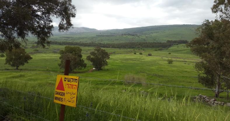 שדות המוקשים באיזור תל עזזיאת