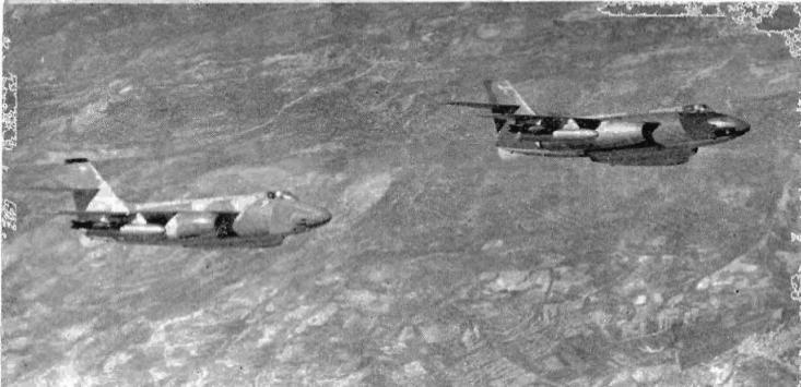 ווטורים בדרך לתקיפת מטרות במלחמת ששת הימים [בטאון חיל האוויר]