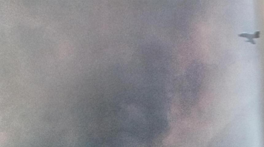 """מטוס חיל האוויר [כנראה אורגן] במהלך הפצצה במלחמת ששת הימים [צילום: משהב""""ט]"""