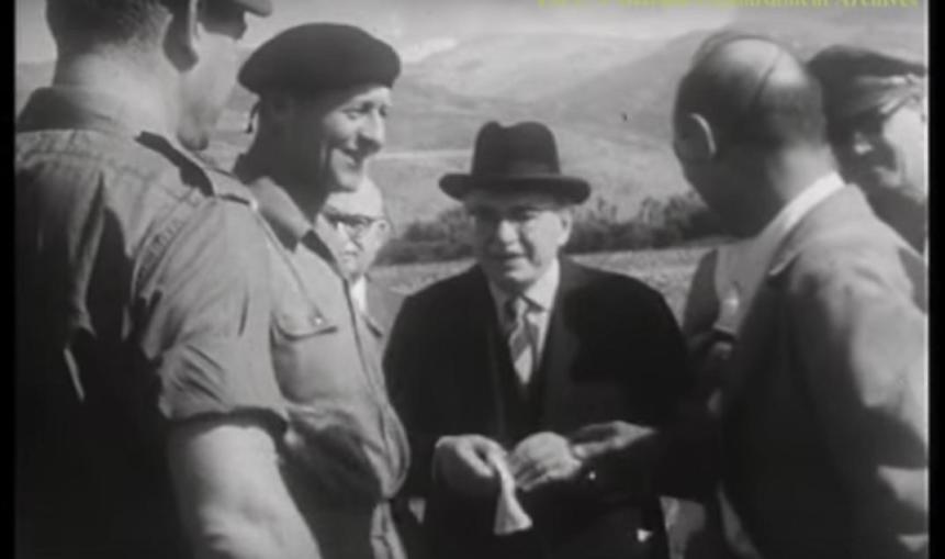 הנשיא זלמן שזר בביקורו בפיקוד צפון