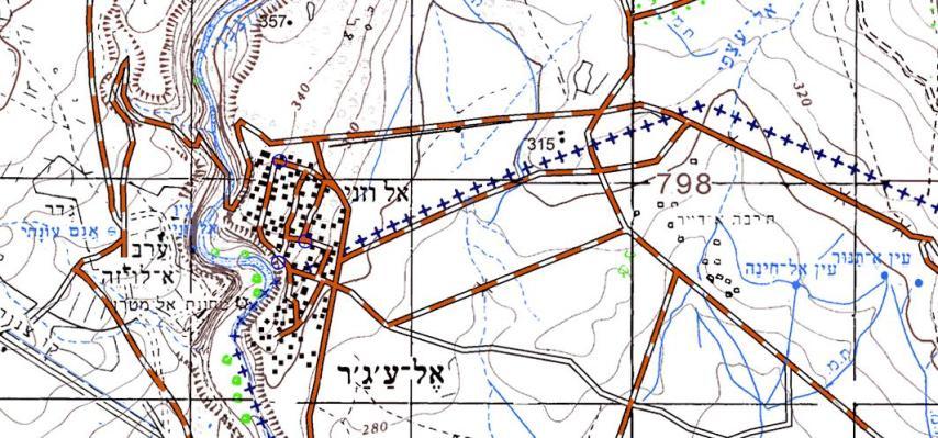רג'ר במפה - הגבול עובר ממש במרכז הכפר [עמוד ענן]