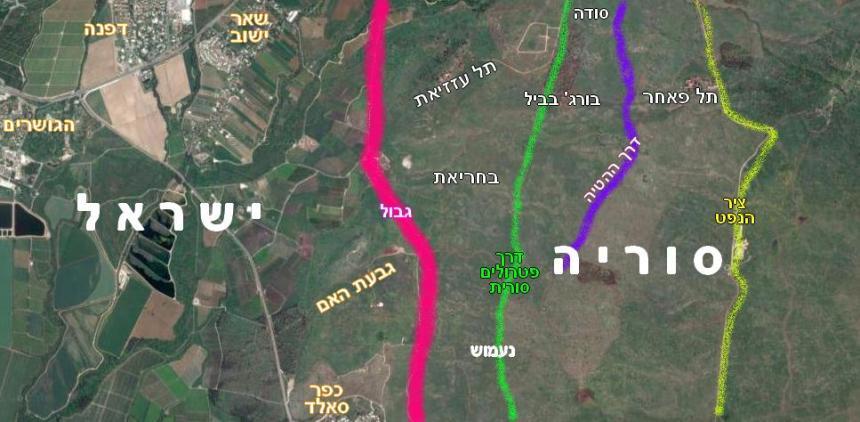 מפת איזור גבעת האם נכון ל-1967