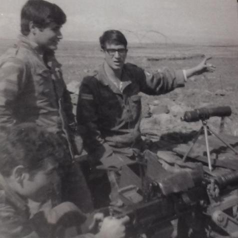 1968 במסייעת. מימין: מאיר אבוטבול, משה בן עטיה וחזי זילברמן (על המלע)