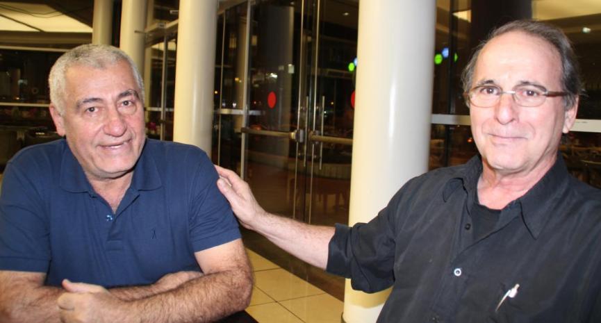 אמנון נמט (מימין) ומוריס שמולי